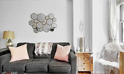 Living Room, 245 E 35th St 4J, 1