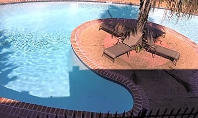 Pool, Evergreen Apartments, 2