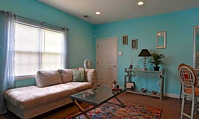 Living Room, Church Street Apartments, 1