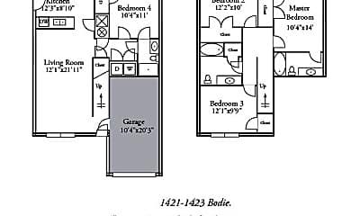 Building, 1423 Bodie Dr, 1
