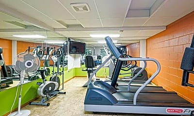 Fitness Weight Room, Park Tower Apartments, 1