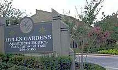 Community Signage, Hulen Gardens, 0