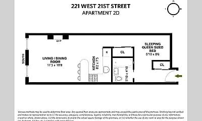 Bathroom, 221 W 21st St, 2