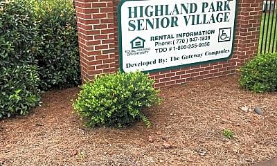 Highland Park Senior Village, 1