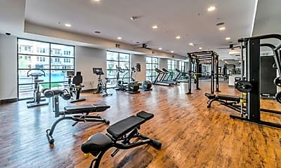 Fitness Weight Room, The Crosby, 2