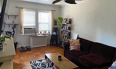 Living Room, 42 Barker Ave 4B, 1