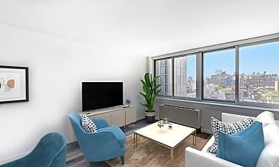 Living Room, 229 Chrystie Street, Unit 1008, 0