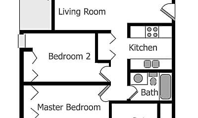 Bathroom, 2101 Oakwood Rd, 2