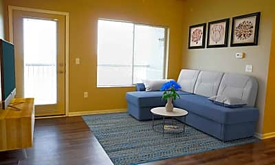 Living Room, Broadway Heights Apartments, 1