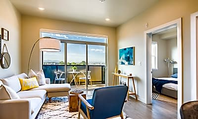 Living Room, Pierpont Apartments, 1