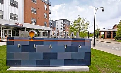 Community Signage, Hot Metal Flats, 1