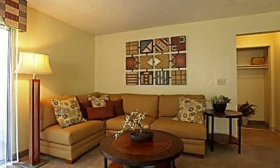Living Room, Crown Point Apartments, 1