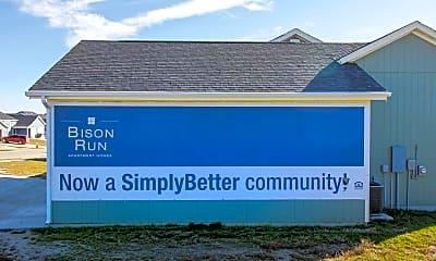 Community Signage, Bison Run, 2