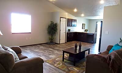 Living Room, Heritage Townhomes, 1