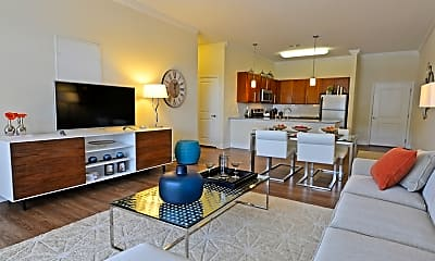 Living Room, Morehead West Apartments, 2