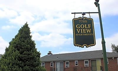 Building, Golf View Apartments, 1