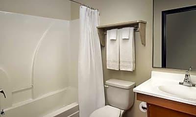 Bathroom, WoodSpring Suites Romeoville, 2