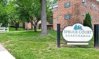 Community Signage, Spruce Court Apartments, 2