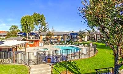 Pool, Peppertree Apartments, 0