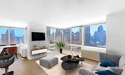Living Room, 240 East 86th Street, Unit 17M, 0