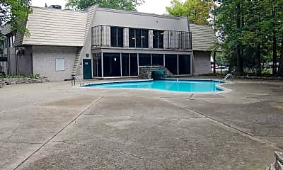 Pool, Woodcrest Apartments, 2