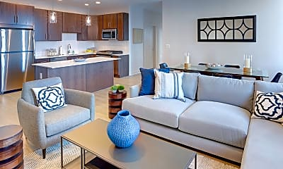 Living Room, Luxe Apartments, 1