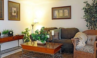 Living Room, Oakwood Club Apartments, 0