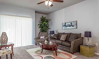 Living Room, Carman Estates Apartments, 1