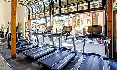 Fitness Weight Room, Bailey Farm Apartments, 2