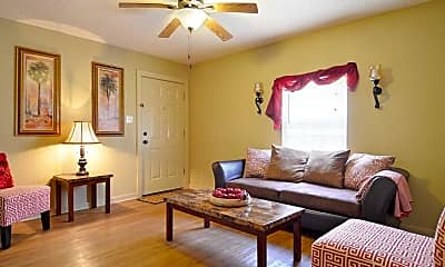 Living Room, Woodlawn Terrace Apartments - LA, 0