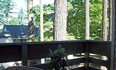 Patio / Deck, Timberline Apartments, 2