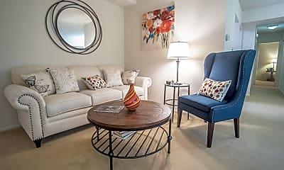 Living Room, Hunt Club Apartments, 1