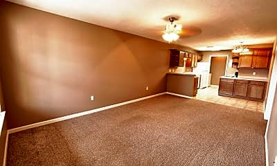 Living Room, Brentwood Apartments, 1