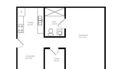 Bedroom, 3960 Airport Hwy, 2