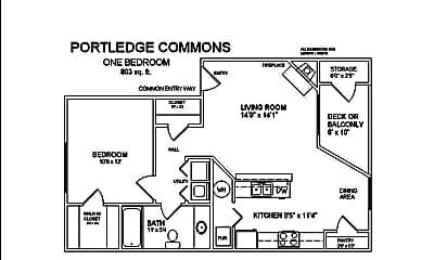Bedroom, 500 Portledge Commons Dr, 2