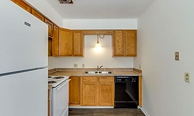 Kitchen, Brentwood Apartments, 1