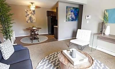 Living Room, Aviator Apartment Homes, 1
