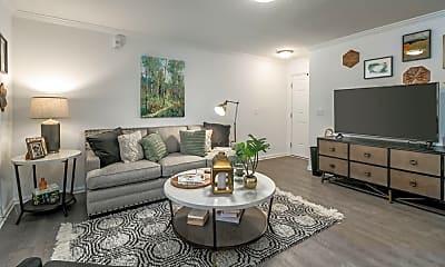 Living Room, Landmark Apartments Hattiesburg, 0