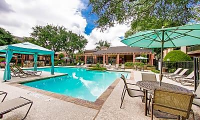 Pool, Oaks of North Dallas Apartments, 1
