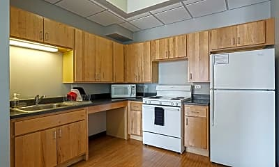 Kitchen, The Flats College Student Housing, 1