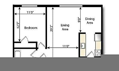 Living Room, 205 S Grant St, 2