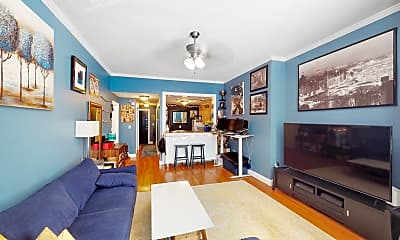 Living Room, 289 Beacon Street, Unit 4, 1