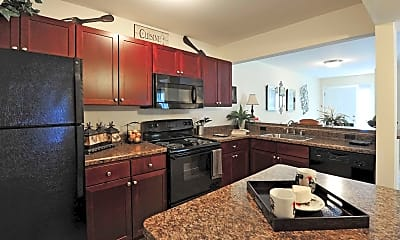 Kitchen, River Mews Apartments & Townhomes, 1
