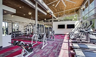 Fitness Weight Room, Aura Bluffview, 2