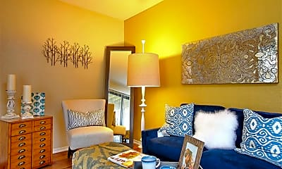 Living Room, Tesoro Apartments, 2