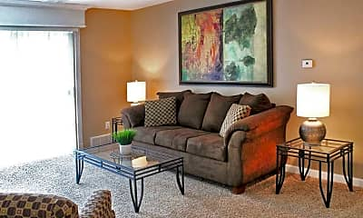 Living Room, The Monterey Apartments & Townhomes., 2