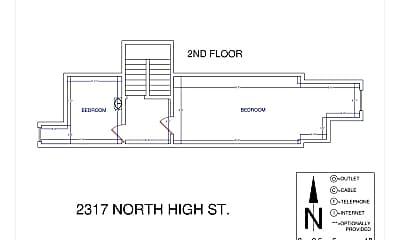 Bedroom, 2317 N High St, 2