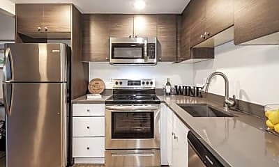Kitchen, Town And Country Apartments, 1