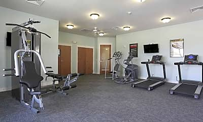 Fitness Weight Room, Hawthorne Gardens Apartments, 2