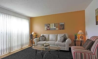 Living Room, Palm Avenue Apartments, 1